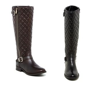 Quilted Knee High Boots